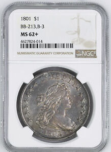 Click now to see the BUY IT NOW Price! 1801 DRAPED BUST $1 NGC MS 62