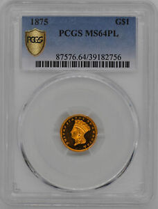 Click now to see the BUY IT NOW Price! 1875 GOLD $1 PCGS MS 64 PL