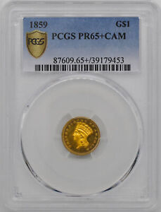 Click now to see the BUY IT NOW Price! 1859 GOLD G$1 PCGS PR 65  CAM