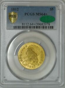 1812 $5 GOLD CAPPED BUST $5 MS64  PCGS SECURE CAC 942751 14