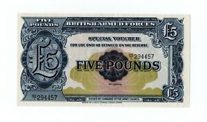 Click now to see the BUY IT NOW Price! 1948 GREAT BRITAIN ARMED FORCES SPECIAL VOUCHER 5 POUNDS 2ND SERIES PICK M23 UNC
