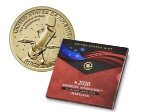 AMERICAN INNOVATION 2020 $1 REVERSE PROOF COIN   MARYLAND OGP