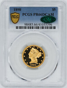 Click now to see the BUY IT NOW Price! 1890 LIBERTY $5 PCGS PR 66 DCAM