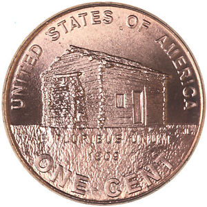 2009 LINCOLN LOG CABIN EARLY CHILDHOOD CENT 1 CHOICE BU PENNY US COIN