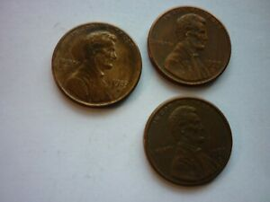 1983 D &  2  1993 D LINCOLN MEMORIAL PENNIES  ONE CENT  CIRCULATED AGE DARKENED