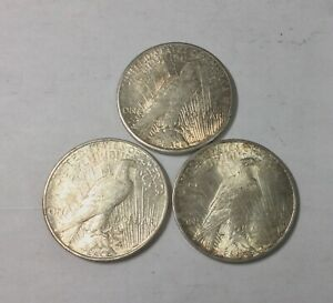 Click now to see the BUY IT NOW Price! 1922 1922S 1922D  PEACE  DOLLARS NICE LUSTROUS  GRADE LOT OF 3 COINS NICE GROUP