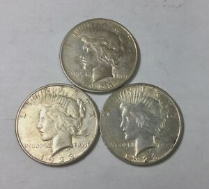 Click now to see the BUY IT NOW Price! 1923 1923D 1923S PEACE  DOLLARS BETTER  GRADE LOT OF 3 COINS NICE GROUP
