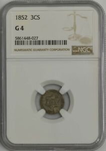 1852 THREE CENT SILVER 3CS G4 NGC 943569 27