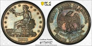1876 CC TRADE DOLLAR PCGS UNCIRCULATED DETAILS UNITED STATES SILVER COIN 4420 A