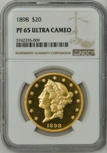 Click now to see the BUY IT NOW Price! 1898 $20 GOLD LIBERTY PF65 ULTRA CAMEO NGC 942108 1