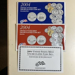 2004 P&D US MINT UNCIRCULATED COIN SET   22 BEAUTIFUL COINS