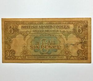Click now to see the BUY IT NOW Price!  ND  1946 BRITISH ARMED FORCES SPECIAL VOUCHER 6 PENCE MILITARY CURRENCY PIK M10