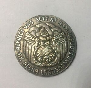 Click now to see the BUY IT NOW Price! 1930 ICELAND 1000 YEAR ALTHING 5 KRONUR SILVER NICE COLLECTORS COIN