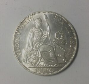 Click now to see the BUY IT NOW Price! PERU 1916 FG LIBERTAD IN RELIEF SILVER ONE SOL CROWN SIZE COIN NICE LUSTROUS