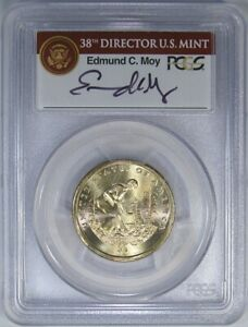 2009 $1 PCGS MS67 NATIVE AM DOLLAR   MISSING EDGE LETTERING & MOY SIGNATURE