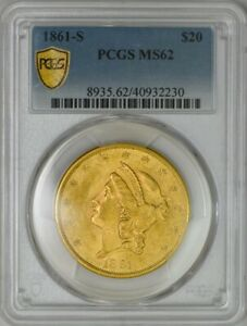 1861 S $20 GOLD LIBERTY MS62 PCGS SECURE 943192 4