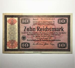 Click now to see the BUY IT NOW Price! 1934  GERMANY 10 MARK BANKNOTE PICK 208  AT THIS HIGH GRADE