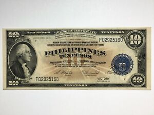 Click now to see the BUY IT NOW Price! 1944 US PHILIPPINES TEN PESOS BANKNOTE VICTORY SERIES 66  HIGH GRADE BEAUTY