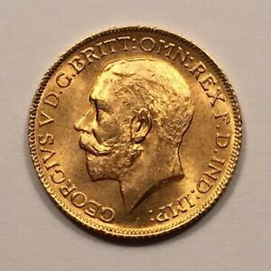 Click now to see the BUY IT NOW Price! 1925 GREAT BRITAIN GOLD SOVEREIGN COIN  ; NOT LATER RESTRIKE  BU