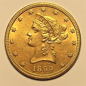 Click now to see the BUY IT NOW Price! 1899 UNITED STATES $10 TEN DOLLAR GOLD COIN AU