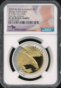 Click now to see the BUY IT NOW Price! 2020 P AUSTRALIAN 1.5 OZ. BI METAL PROOF WEDGE TAILED EAGLE NGC PF70UC MERCANTI