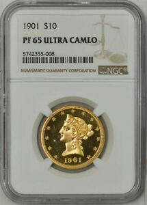 1901 $10 GOLD LIBERTY PF65 ULTRA CAMEO NGC 942408 1