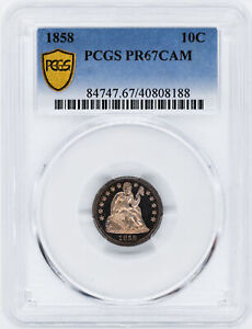 Click now to see the BUY IT NOW Price! 1858 LIBERTY SEATED 10C PCGS PR 67 CAM