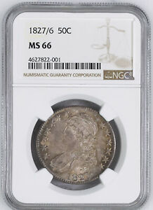 Click now to see the BUY IT NOW Price! 1827/6 CAPPED BUST 50C NGC MS 66