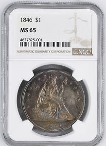 Click now to see the BUY IT NOW Price! 1846 LIBERTY SEATED S$1 NGC MS 65