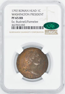 Click now to see the BUY IT NOW Price! 1792 WASH ROMAN HEAD CENT NGC PR 65 RB