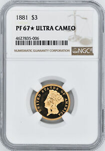 Click now to see the BUY IT NOW Price! 1881 INDIAN PRINCESS $3 NGC PR 67 DCAM