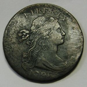 1796 REVERSE 1794 FLOWING HAIR LARGE CENT GRADING FINE NICE COIN PRICED RIGHT P8