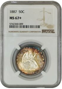 Click now to see the BUY IT NOW Price! 1887 SEATED LIBERTY HALF 50C MS67  NGC 939372 5