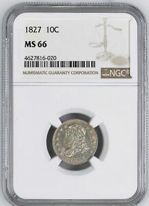 Click now to see the BUY IT NOW Price! 1827 CAPPED BUST 10C NGC MS 66