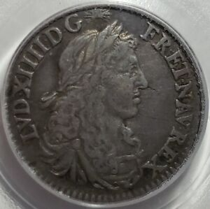 Click now to see the BUY IT NOW Price! FRENCH COLONIES 5 SOLS 1670 A. PARIS MINT PCGS VF30