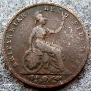 GREAT BRITAIN KING WILLIAM IV 1831 FARTHING COPPER