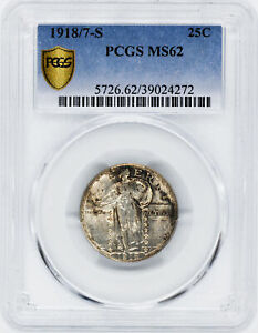 Click now to see the BUY IT NOW Price! 1918/7 S STANDING LIBERTY 25C PCGS MS 62