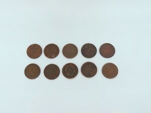 1864 TWO 2 CENT PIECE COIN LOT 10 UNGRADED 1865
