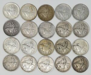 Click now to see the BUY IT NOW Price! 20X 1925 STONE MOUNTAIN COMMEMORATIVE HALF DOLLARS 50C ROLL CIRCULATED
