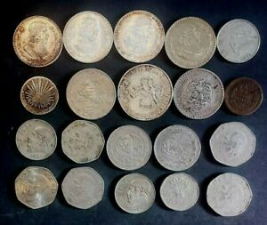 VINTAGE SILVER AND MISC. MEXICAN COLLECTOR COINS 20  1212