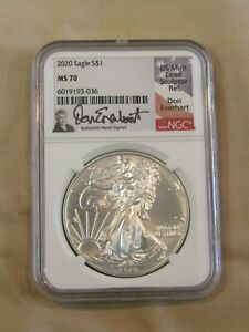 2020 SILVER AMERICAN EAGLE  NGC MS70 SIGNED DON EVERHART