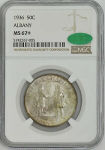 Click now to see the BUY IT NOW Price! 1936 ALBANY 50C MS67  NGC   CAC 943215 54
