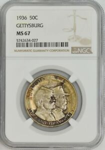 Click now to see the BUY IT NOW Price! 1936 GETTYSBURG 50C MS67 NGC 943452 51