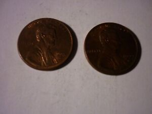 1998D AND 1999D LINCOLN MEMORIAL PENNIES  2  ONE CENT COINS LIFE IN A PIGGY BANK