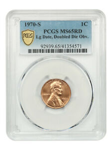 Click now to see the BUY IT NOW Price! 1970 S 1C PCGS MS65 RD  LARGE DATE DOUBLED DIE OBVERSE  REGISTRY QUALITY GEM