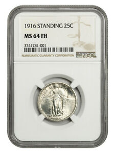 Click now to see the BUY IT NOW Price! 1916 STANDING LIBERTY 25C NGC MS64 FH   FAMOUS KEY DATE RARITY