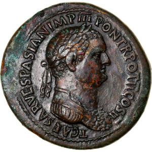 Click now to see the BUY IT NOW Price! [906487] COIN TITUS SESTERTIUS 72 ROMA PEDIGREE BRONZE RIC:476
