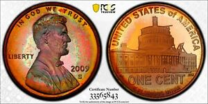 STUNNINGLY TONED 2009 S LINCOLN CENT   PROFESSIONAL   PCGS PR67RB