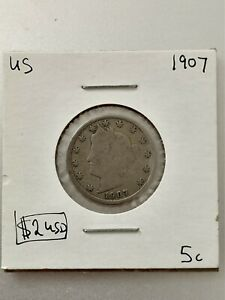 1907 5 CENTS UNITED STATES     COIN 1016