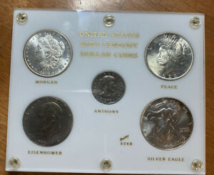 MORGAN PEACE SILVER EAGLE IKE SBA UNITED STATES DOLLARS COIN SET